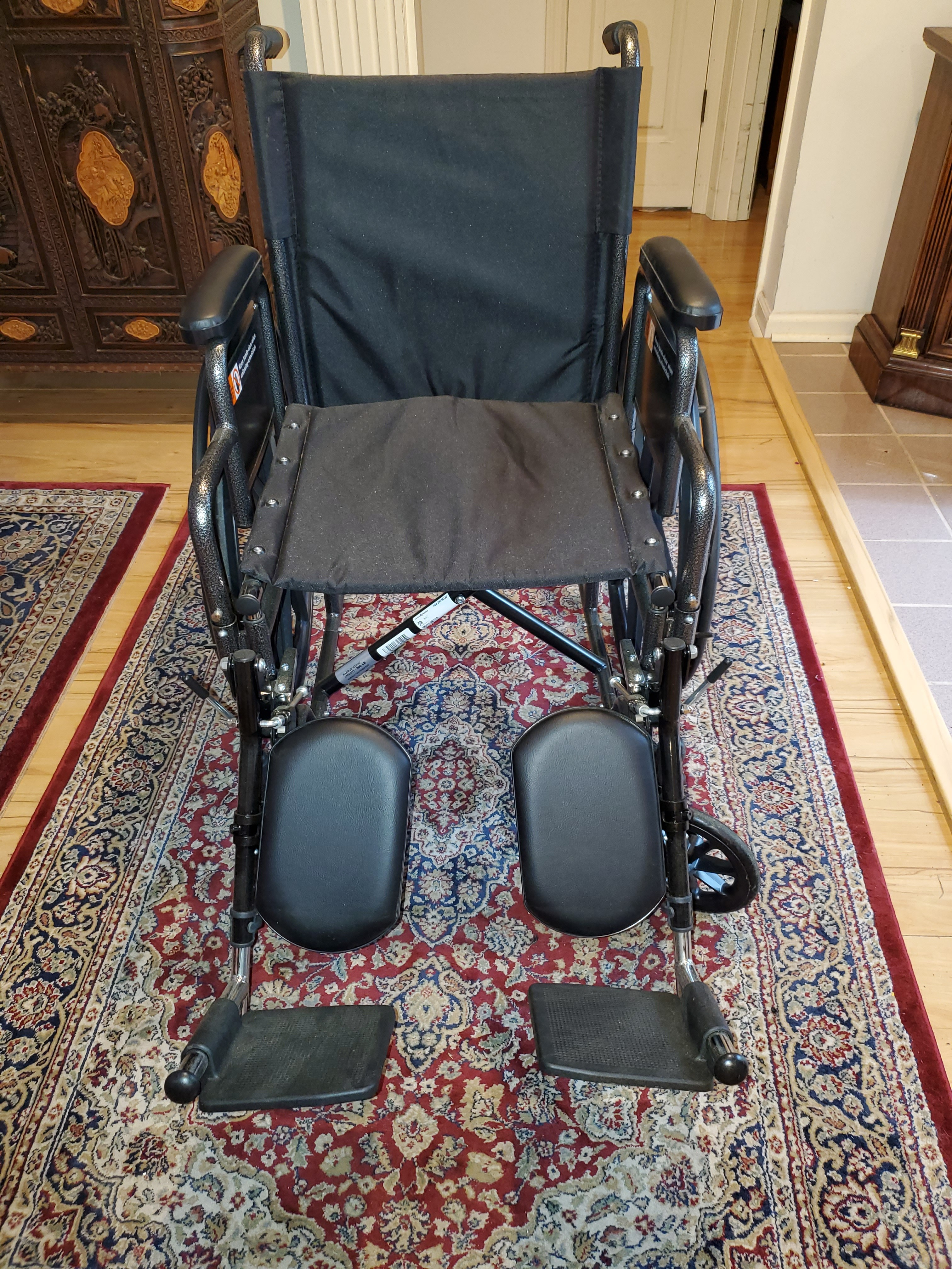 Photo 3 of Everset and Jennings Advantage Lx black wide wheelchair