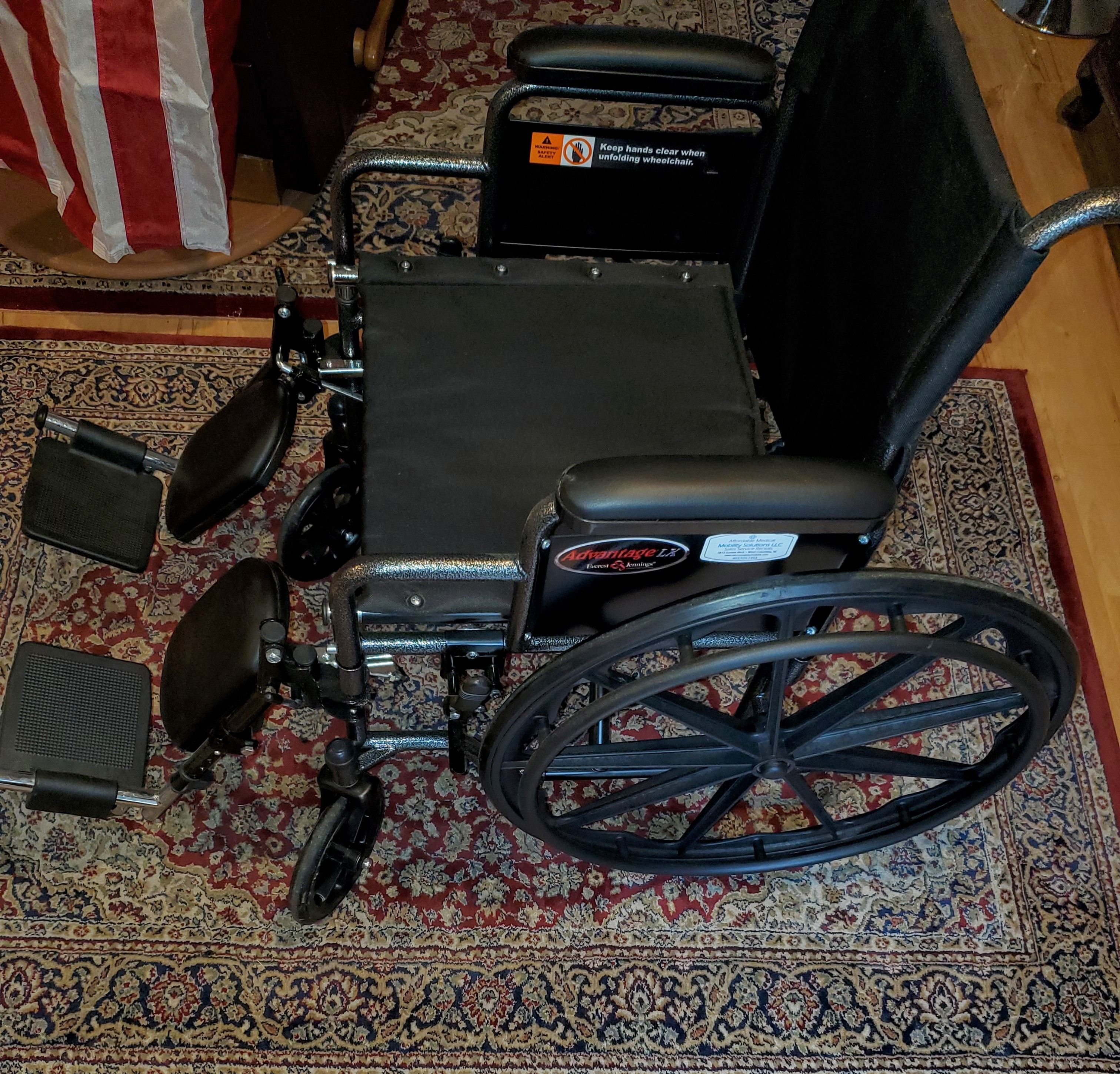 Photo 2 of Everset and Jennings Advantage Lx black wide wheelchair